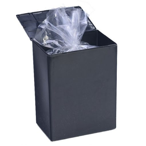 Temporary Black Plastic Utility Urn